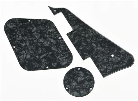 Backplate Ivory Gibson Lespaul Set black pearl lp pickguard back plate switch cavity covers for epiphone les paul ebay