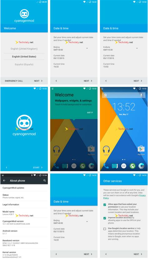 themes lenovo a6000 custom rom cyanogenmod 12 1 lollipop for lenovo a6000