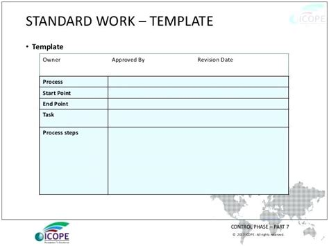 standard work template standard work templates standard work application template