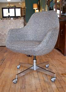 egg shape gray office chair covet consign design