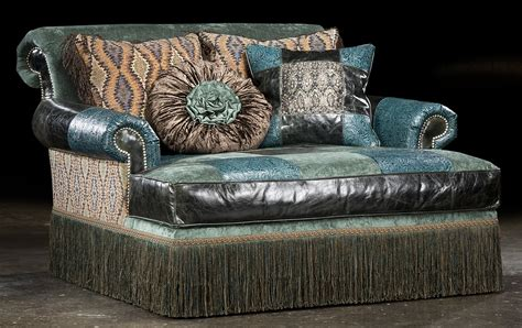 decorative home furnishings high style furniture tooled leather sofa luxury fine home
