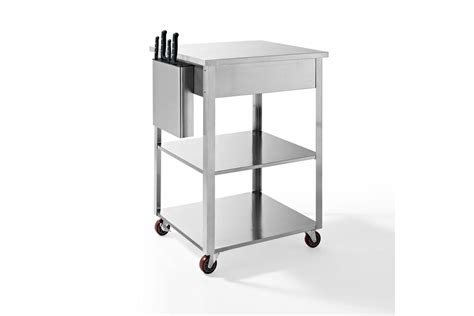 Kitchen Prep Cart Culinary Prep Kitchen Cart In Stainless Steel By Crosley