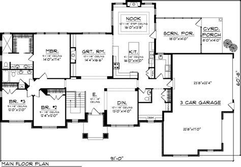 reverse ranch house plans house plan 73159 at familyhomeplans com