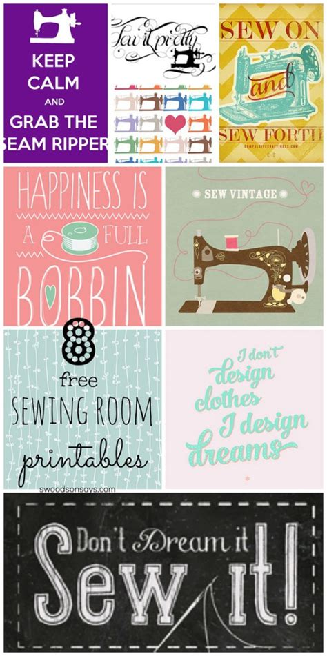 Hiasan Dinding Wall Sign Sewing Room 8 free sewing room printables for wall decor swoodson says