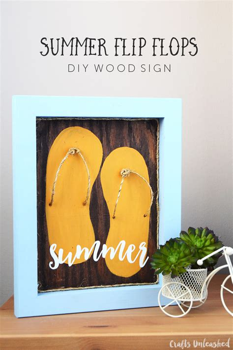 diy summer decorations for home diy summer flip flop decor step by step consumer crafts