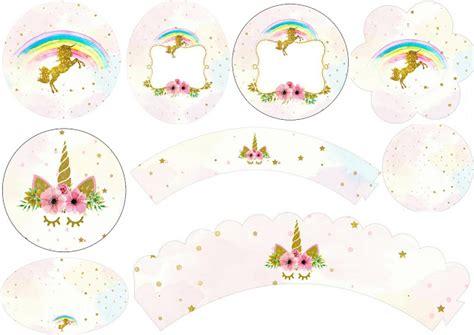 free printable unicorn cupcake toppers unicorn party free printable wrappers and toppers for