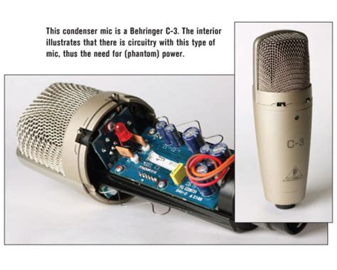 how does a capacitor microphone work which is best a dynamic microphone or a condenser microphone videomaker