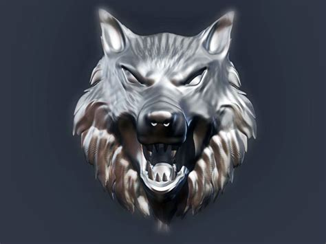 House Modeling Software wolf head 2 3d model 3d printable stl cgtrader com