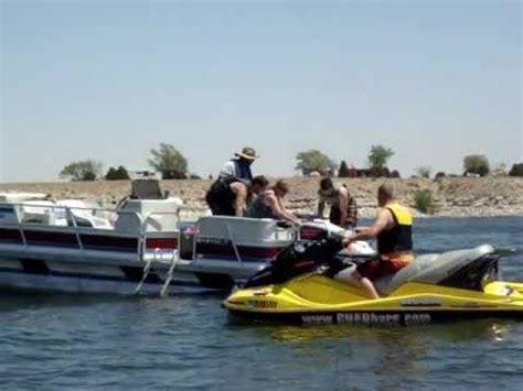 pontoon jet boat how to offload a jet ski from pontoon boat a k a how jet