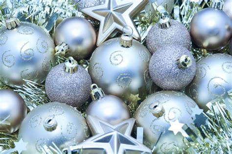 festive decorations photo of silver festive decorations free christmas images