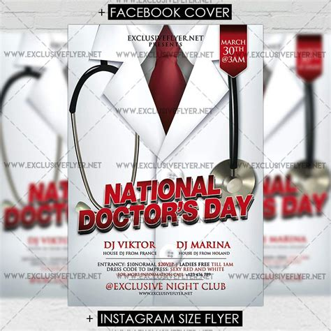 nurses week flyer templates national doctors day premium flyer template exclsiveflyer free and premium psd templates