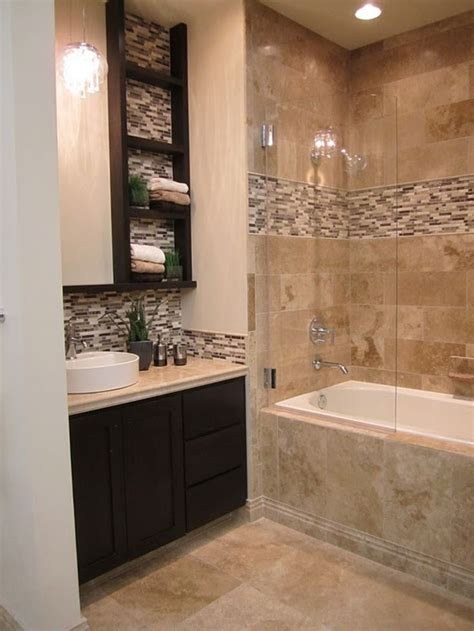 travertine tile ideas bathrooms best 20 brown bathroom ideas on
