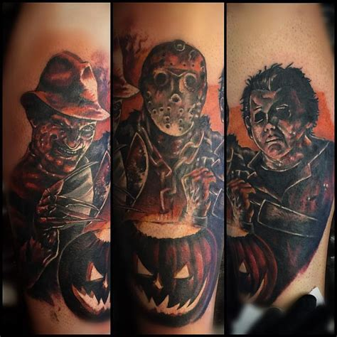 michael myers tattoo designs freddy krueger jason and michael myers color leg