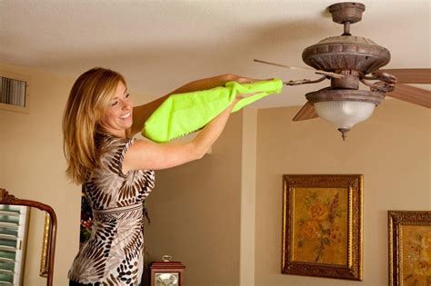 how to clean fan blades fanblade cleaner green microfiber sleeve cleans ceiling
