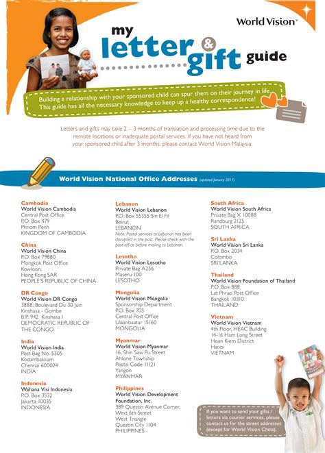 Sponsor Letter En Francais connecting with your sponsored child 轢 world vision malaysia