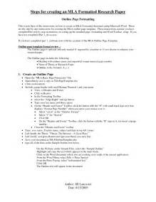 mla format outline template apa outline for research paper