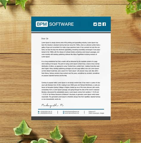 business letterhead software playful letterhead design for bpm software by sl
