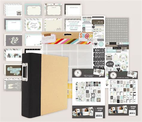 Wedding Album Kit by Simple Stories Snap Wedding Album Kit