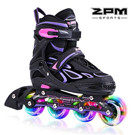 light up roller skates 2pm sports vinal girls adjustable flashing inline skates