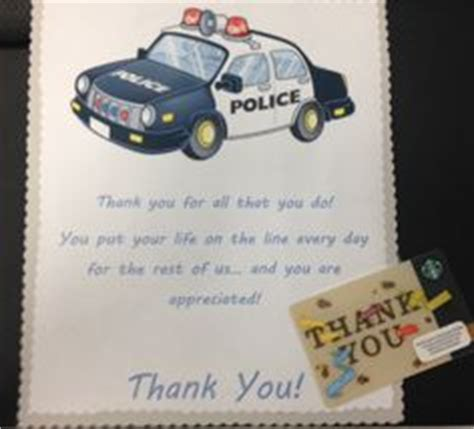 printable thank you card for police officer thank you note ideas for police officers just b cause