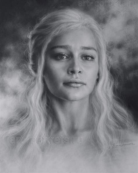 Portrait Drawers by Portrait Of The Khalessi Emilia Clarke By