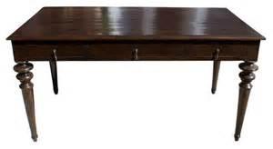 schreibtisch dunkles holz wood desk with turned wood legs 1 550 est retail