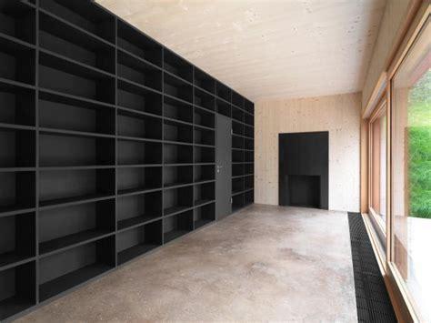 bibliothek bücherwand keller hubacher architekten herisau