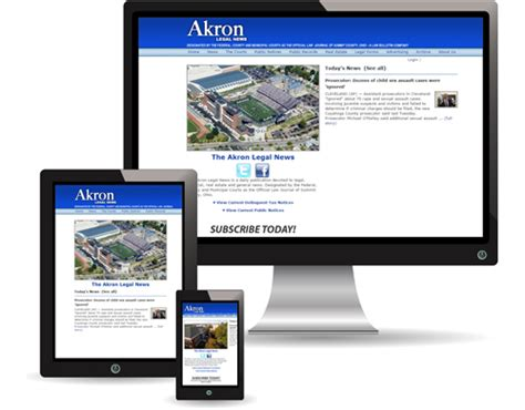 Akron Common Pleas Court Records Akron News Bulletin Publishing Company