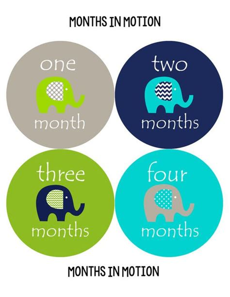 printable baby stickers baby monthly stickers instant download month sticker baby