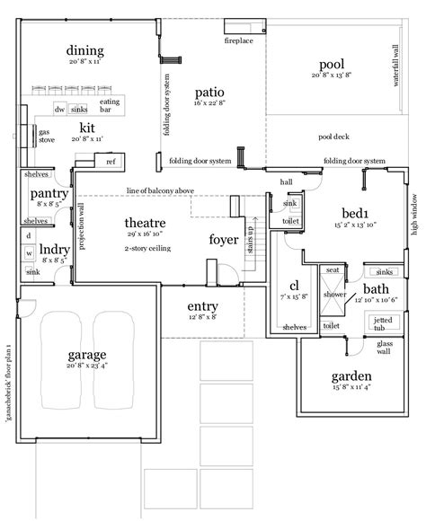 brick home floor plans ganache brick house plan tyree house plans