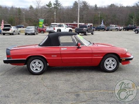 spider ls for sale 1986 alfa romeo spider veloce for sale