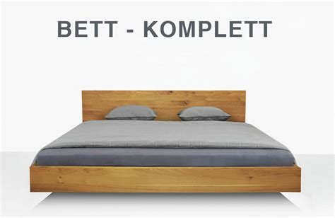 bett komplett classify simple in wildeiche massiv - Bett Komplett