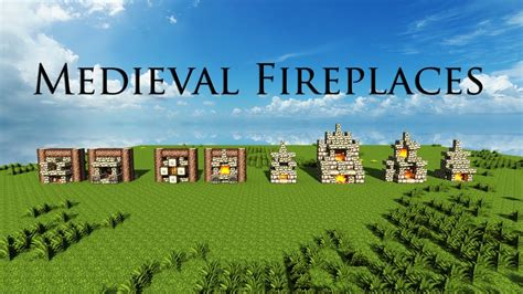 minecraft medieval fireplace designs download youtube