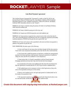 Rent Payment Agreement Template Late Rent Payment Agreement Form With Sample