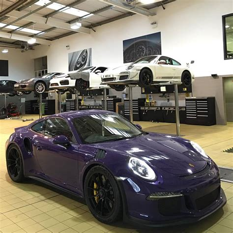 rauh welt porsche purple 911r 200mph autobahn goodness