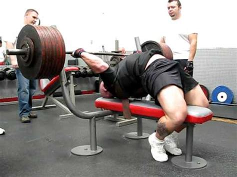 collin rhodes nails 700 pound bench youtube
