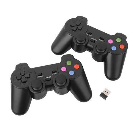 Joystick Usb Wireless 2x 2 4g usb wireless dual vibration gamepad controller