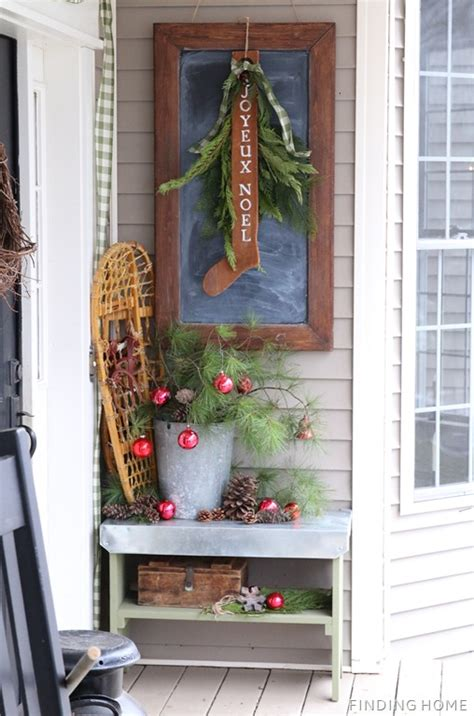 vintage christmas front porch decor junkers unite with a vintage front porch