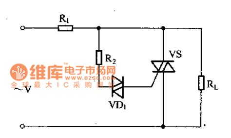 diode protection circuit diagram voltage protection circuit uses the two way trigger diode to trigger the two way thyristor