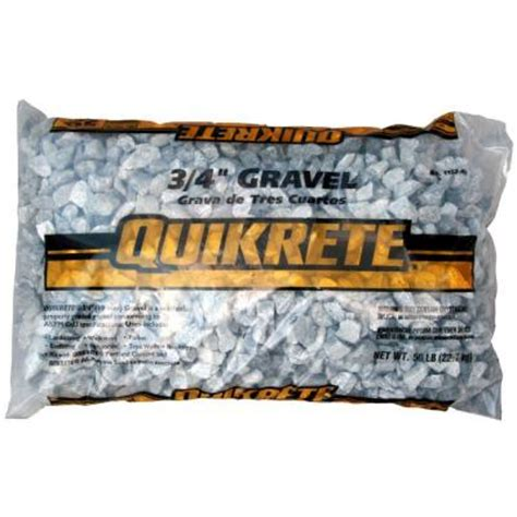 concrete bags home depot quikrete 50 lb 3 4 in gravel 115245 the home depot