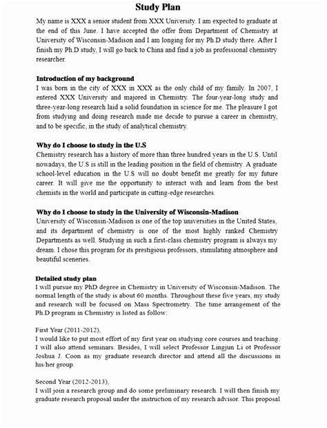 study plan template for scholarship 9 study plan template for scholarship rtaau templatesz234