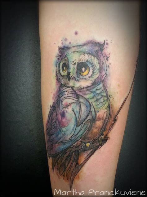 watercolor tattoo sleeves watercolor owl owl watercolour owl owl