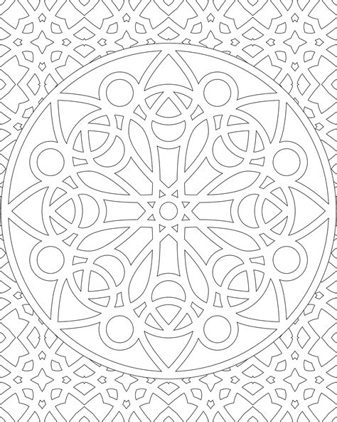 geometric coloring designs on pinterest coloring pages