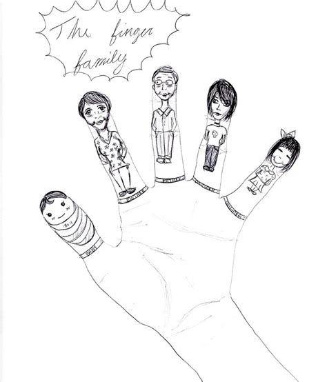 Finger Puppet Family family finger puppets coloring pages sketch coloring page