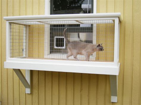 cat window box enclosure diy catio plan the window box catio plans