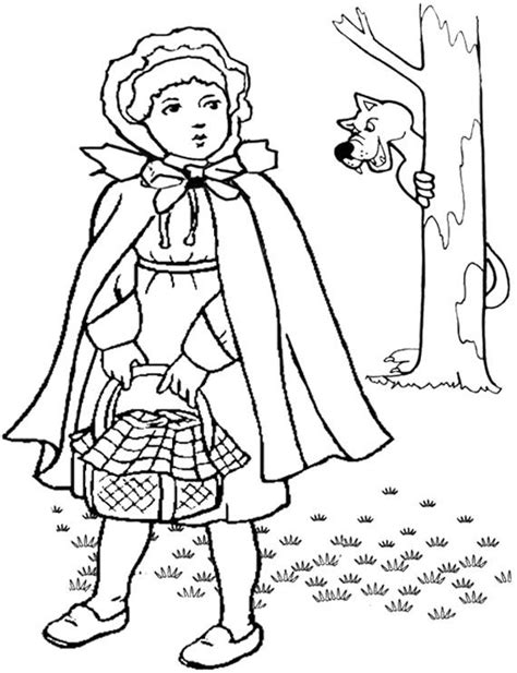 little red riding hood free colouring pages