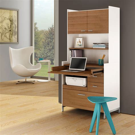 collectic home aspect white modern hutch by bdi collectic home