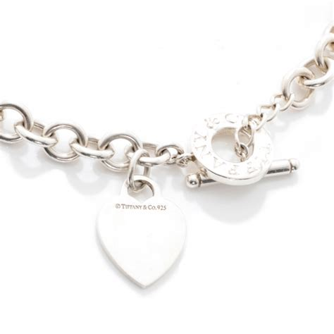 co sterling silver tag toggle necklace 40590