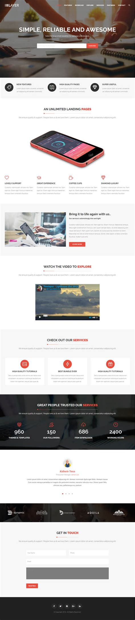 wordpress theme one page layout layer simple one page wordpress themes wordpress