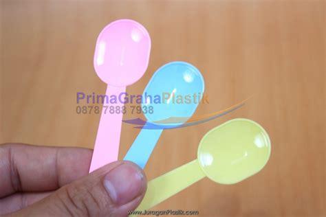 Sendok Plastik Kecil Pink Sekop sendok jelly mini warna stock indent home